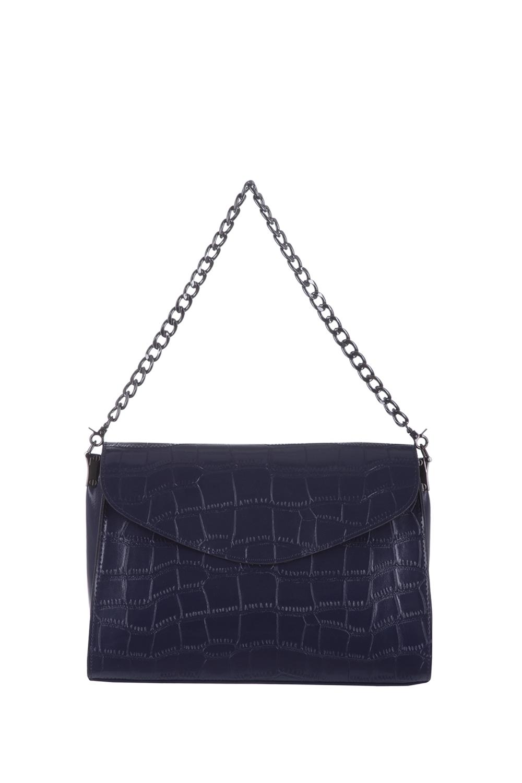 СумкаКлассические<br>Удобная и вместительная женская сумка. Модель выполнена из фактурного материала. Отличный выбор для завершения образа.  Цвет: синий  Размеры: 30*22*8 см.<br><br>По материалу: Искусственная кожа<br>По рисунку: Однотонные,Фактурный рисунок<br>По способу ношения: В руках,На плечо<br>По степени жесткости: Полужесткие<br>По типу застежки: С клапаном<br>Ручки: Длинные,Регулируемые<br>По сезону: Всесезон<br>По форме: Прямоугольные<br>Размер : UNI<br>Материал: Искусственная кожа<br>Количество в наличии: 1