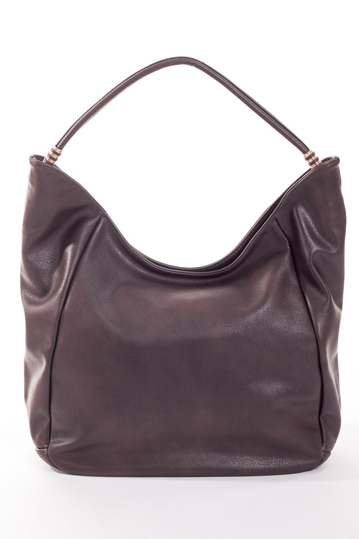 Сумка-шоппингСумки-шоппинг<br>Удобная и вместительная женская сумка.  Размеры: 34*29*12 см.  Цвет: шоколадный<br><br>По материалу: Искусственная кожа<br>По размеру: Средние<br>По рисунку: Однотонные<br>По силуэту стенок: Прямоугольные<br>По степени жесткости: Мягкие<br>По типу застежки: С застежкой молнией<br>Ручки: Длинные<br>Размер : UNI<br>Материал: Искусственная кожа<br>Количество в наличии: 1
