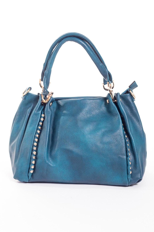 Сумка-шоппингСумки-шоппинг<br>Удобная и вместительная женская сумка.  Размеры: 40*27*15 см.  Цвет: синий<br><br>По материалу: Искусственная кожа<br>По размеру: Средние<br>По рисунку: Однотонные<br>По силуэту стенок: Прямоугольные<br>По степени жесткости: Мягкие<br>По типу застежки: С застежкой молнией<br>Ручки: Короткие<br>Размер : UNI<br>Материал: Искусственная кожа<br>Количество в наличии: 1