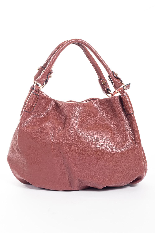 Сумка-шоппингСумки-шоппинг<br>Удобная и вместительная женская сумка.  Размеры: 49*35*5 см.  Цвет: коричневый<br><br>По материалу: Искусственная кожа<br>По размеру: Средние<br>По рисунку: Однотонные<br>По силуэту стенок: Прямоугольные<br>По степени жесткости: Мягкие<br>По типу застежки: С застежкой молнией<br>Ручки: Длинные<br>Размер : UNI<br>Материал: Искусственная кожа<br>Количество в наличии: 1