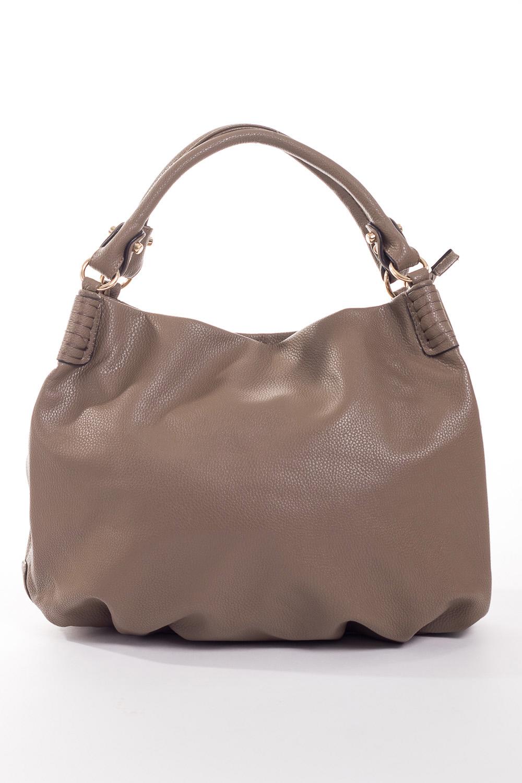 Сумка-шоппингСумки-шоппинг<br>Удобная и вместительная женская сумка.  Размеры: 49*35*5 см.  Цвет: бежево-серый<br><br>По материалу: Искусственная кожа<br>По размеру: Средние<br>По рисунку: Однотонные<br>По силуэту стенок: Прямоугольные<br>По степени жесткости: Мягкие<br>По типу застежки: С застежкой молнией<br>Ручки: Длинные<br>Размер : UNI<br>Материал: Искусственная кожа<br>Количество в наличии: 1