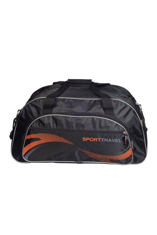 СумкаСпортивные<br>Спортивная мужская сумка. Модель с застежкой на молнию и двумя ручками.  В изделии использованы цвета: серый, оранжевый  Габариты, см: 31х60х28<br><br>Размер : UNI<br>Материал: Полиэстер<br>Количество в наличии: 2