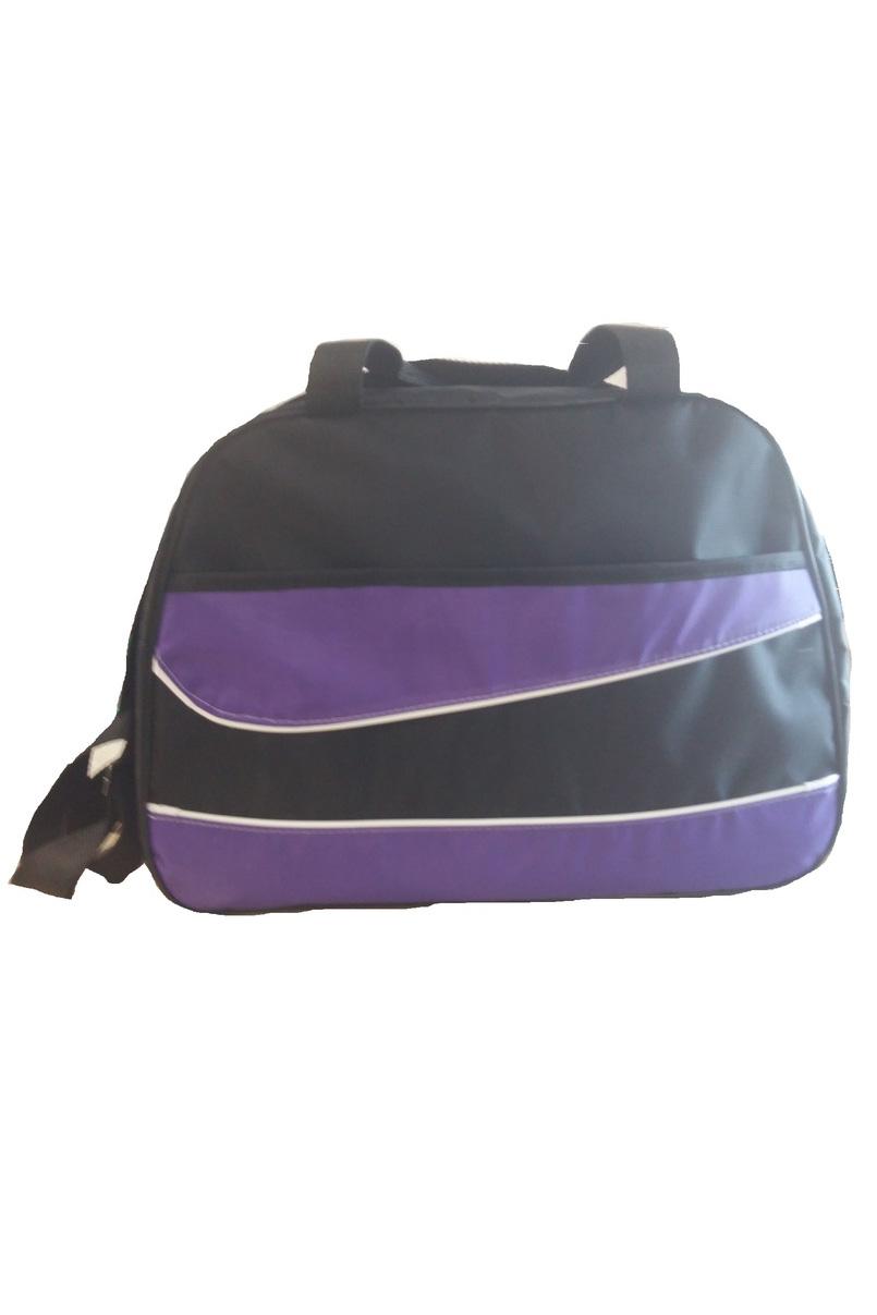 Спортивная сумкаСпортивные<br>Удобная и вместительная спортивная сумка.  Размер: 43*31*22 см.  В изделии использованы цвета: фиолетовый, черный<br><br>По материалу: Тканевые<br>По рисунку: Цветные<br>По силуэту стенок: Трапециевидные<br>По степени жесткости: Мягкие<br>По типу застежки: С застежкой молнией<br>По сезону: Всесезон<br>Ручки: Короткие<br>Размер : UNI<br>Материал: Полиэстер<br>Количество в наличии: 2