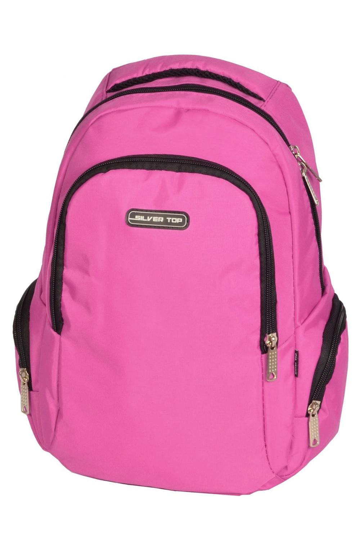 РюкзакСумки и кошельки<br>Молодежный рюкзак с застежкой на молнию. Модель имеет 2 плечевые и 1 короткую ручку.  В изделии использованы цвета: розовый  Габариты, см: 36х23х12<br><br>По сезону: Всесезон<br>Размер : UNI<br>Материал: Полиэстер<br>Количество в наличии: 1