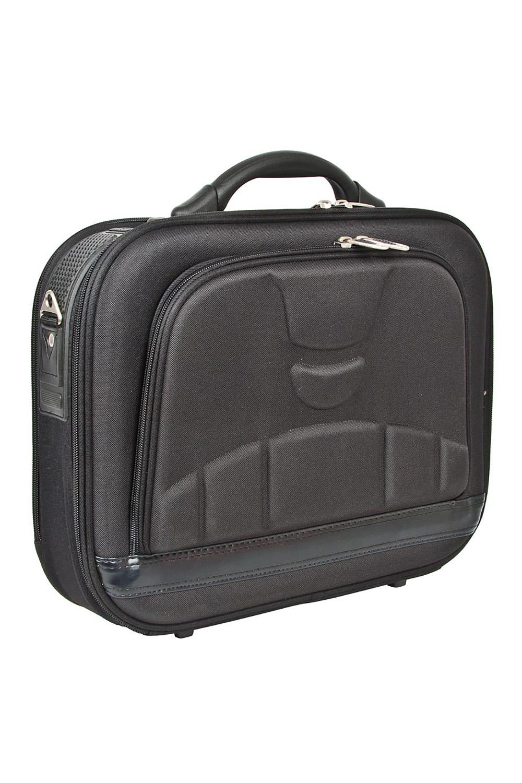 СумкаДеловые<br>Удобная и вместительная мужская сумка. Пластмассовый каркас.  Размеры: 40*12*33 см  Цвет: черный<br><br>Размер : UNI<br>Материал: Полиэстер<br>Количество в наличии: 1