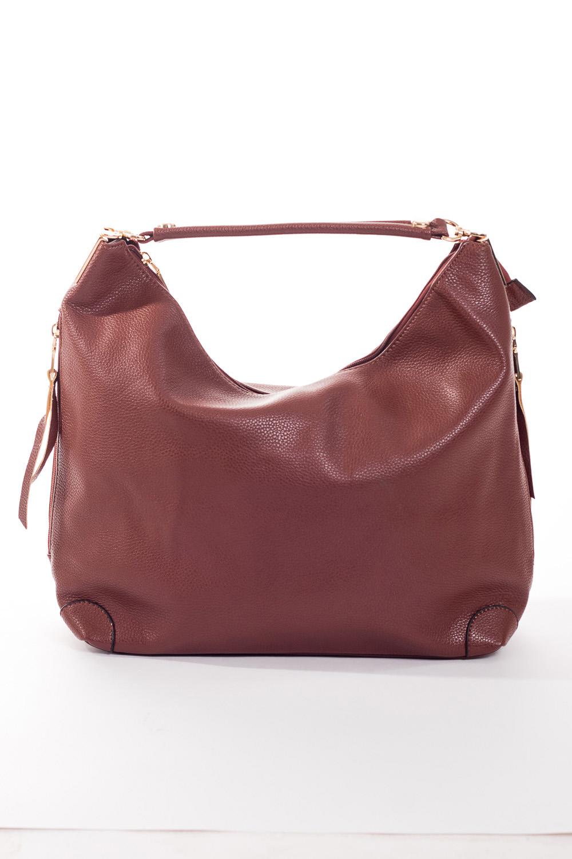 Сумка-шоппингСумки-шоппинг<br>Удобная и вместительная женская сумка.  Размеры: 45*27*12 см.  Цвет: коричневый<br><br>По материалу: Искусственная кожа<br>По размеру: Средние<br>По рисунку: Однотонные<br>По степени жесткости: Мягкие<br>По типу застежки: С застежкой молнией<br>Ручки: Короткие<br>По форме: Прямоугольные<br>Размер : UNI<br>Материал: Искусственная кожа<br>Количество в наличии: 2