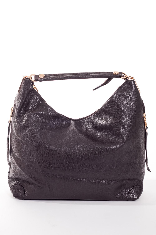Сумка-шоппингСумки-шоппинг<br>Удобная и вместительная женская сумка.  Размеры: 45*27*12 см.  Цвет: шоколадный<br><br>По материалу: Искусственная кожа<br>По размеру: Средние<br>По рисунку: Однотонные<br>По степени жесткости: Мягкие<br>По типу застежки: С застежкой молнией<br>Ручки: Короткие<br>По форме: Прямоугольные<br>Размер : UNI<br>Материал: Искусственная кожа<br>Количество в наличии: 1