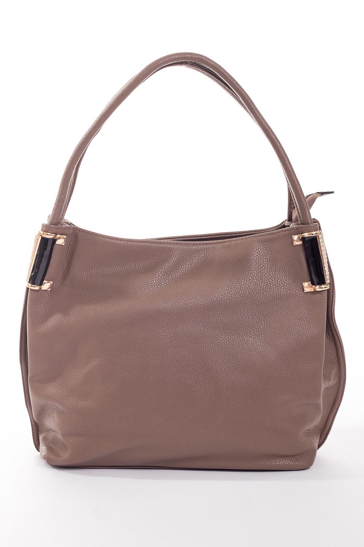 Сумка-шоппингСумки-шоппинг<br>Удобная и вместительная женская сумка.  Размеры: 37*29*12 см.  Цвет: серо-бежевый<br><br>По материалу: Искусственная кожа<br>По размеру: Средние<br>По рисунку: Однотонные<br>По степени жесткости: Мягкие<br>По типу застежки: С застежкой молнией<br>Ручки: Длинные<br>По форме: Прямоугольные<br>Размер : UNI<br>Материал: Искусственная кожа<br>Количество в наличии: 3