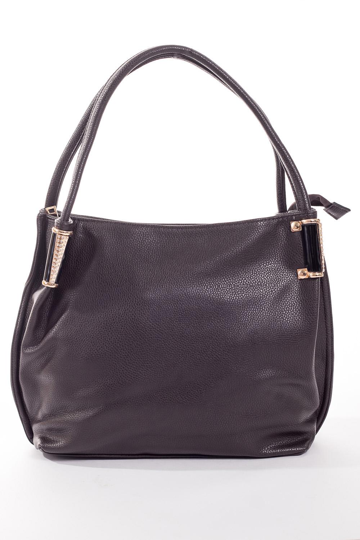 Сумка-шоппингСумки-шоппинг<br>Удобная и вместительная женская сумка.  Размеры: 37*29*12 см.  Цвет: шоколадный<br><br>По материалу: Искусственная кожа<br>По размеру: Средние<br>По рисунку: Однотонные<br>По силуэту стенок: Прямоугольные<br>По степени жесткости: Мягкие<br>По типу застежки: С застежкой молнией<br>Ручки: Длинные<br>Размер : UNI<br>Материал: Искусственная кожа<br>Количество в наличии: 2