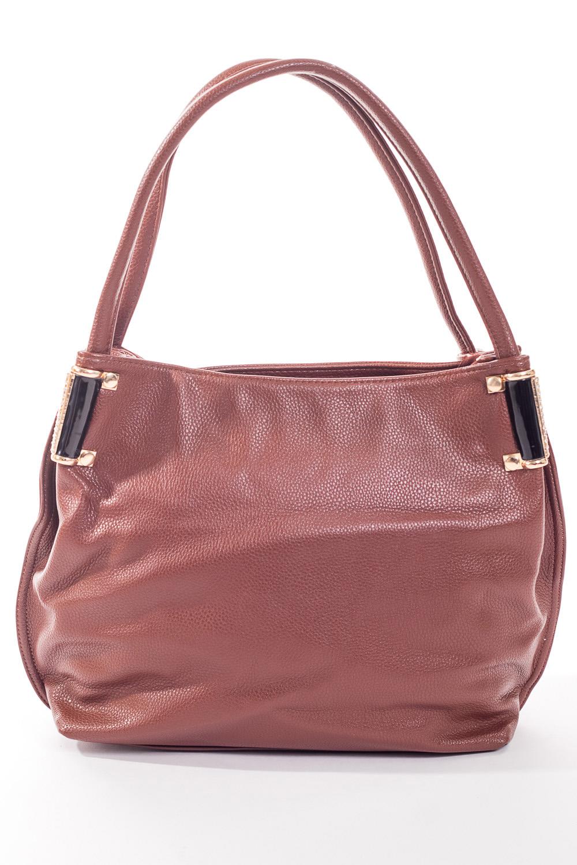 Сумка-шоппингСумки-шоппинг<br>Удобная и вместительная женская сумка.  Размеры: 37*29*12 см.  Цвет: светло-коричневый<br><br>По материалу: Искусственная кожа<br>По размеру: Средние<br>По рисунку: Однотонные<br>По степени жесткости: Мягкие<br>По типу застежки: С застежкой молнией<br>Ручки: Длинные<br>По форме: Прямоугольные<br>Размер : UNI<br>Материал: Искусственная кожа<br>Количество в наличии: 3