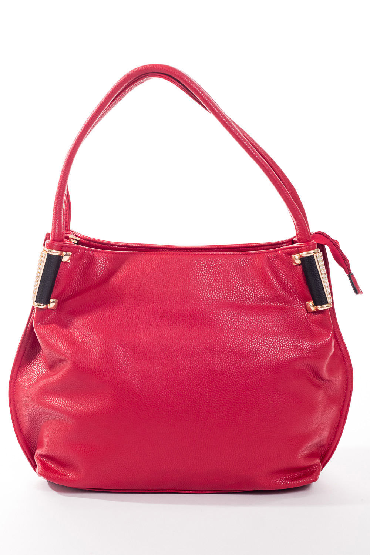 Сумка-шоппингСумки-шоппинг<br>Удобная и вместительная женская сумка.  Размеры: 37*29*12 см.  Цвет: малиновый<br><br>По материалу: Искусственная кожа<br>По размеру: Средние<br>По рисунку: Однотонные<br>По степени жесткости: Мягкие<br>По типу застежки: С застежкой молнией<br>Ручки: Короткие<br>По форме: Прямоугольные<br>Размер : UNI<br>Материал: Искусственная кожа<br>Количество в наличии: 1
