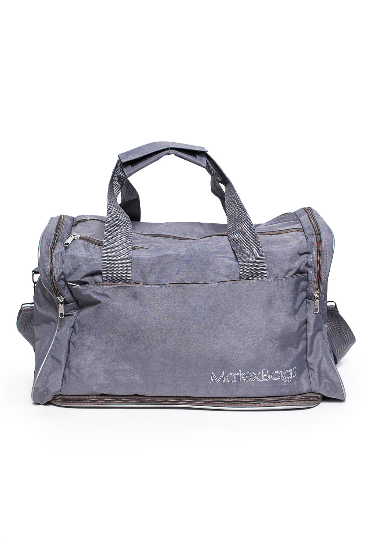 Спортивная сумкаСпортивные<br>Удобная и вместительная спортивная сумка.  Размер: 40*30*22 см.  В изделии использованы цвета: серый<br><br>По материалу: Тканевые<br>По рисунку: Однотонные<br>По способу ношения: В руках<br>По степени жесткости: Мягкие<br>По сезону: Всесезон<br>Ручки: Длинные,Короткие<br>Размер : UNI<br>Материал: Полиэстер<br>Количество в наличии: 2