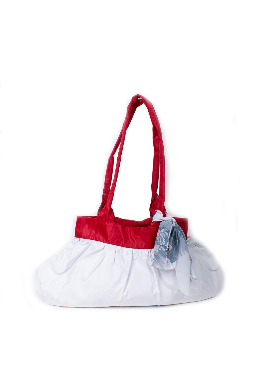 СумкаСумки-шоппинг<br>Удобная и вместительная женская сумка.  Размеры: 29*45 см.  Цвет: белый, красный<br><br>По материалу: Тканевые<br>По размеру: Средние<br>По рисунку: Однотонные<br>По способу ношения: В руках,На плечо<br>По степени жесткости: Мягкие<br>Ручки: Длинные<br>По сезону: Всесезон<br>По форме: Прямоугольные<br>Размер : UNI<br>Материал: Полиэстер<br>Количество в наличии: 1