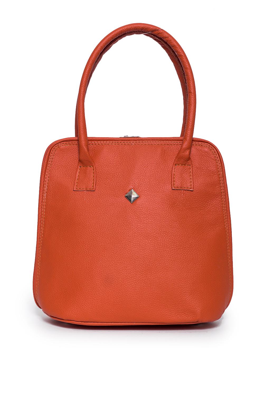 СумкаКлассические<br>Удобная и вместительная женская сумка. В сумке одно большое отделение,1 карман под замком, 2 маленьких кармана.  Состав: верх - натуральная кожа Крс 100 %, подклад - полиэстер  Размеры: 11*26*26 см  Цвет: оранжевый<br><br>Отделения: 1 отделение<br>По материалу: Натуральная кожа<br>По размеру: Средние<br>По рисунку: Однотонные<br>По способу ношения: В руках,На запастье<br>По типу застежки: С застежкой молнией<br>По элементам: Карман на молнии,Карман под телефон<br>Ручки: Короткие<br>По форме: Полукруглые<br>Размер : UNI<br>Материал: Натуральная кожа<br>Количество в наличии: 1