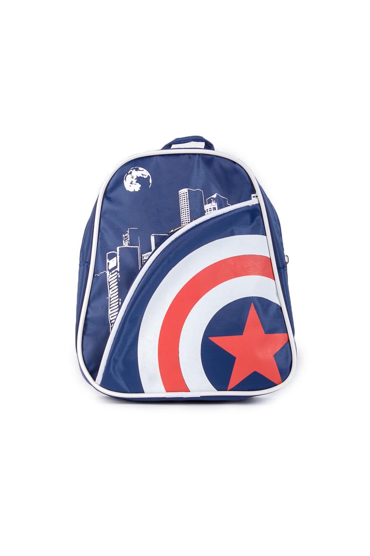 РюкзакПодростковые сумки<br>Молодежный рюкзак с принтом. Модель с застежкой на молнию и плечевыми ручками.  В изделии использованы цвета: синий, белый, красный  Габариты, см: 23x18x6<br><br>По сезону: Всесезон<br>Размер : UNI<br>Материал: Полиэстер<br>Количество в наличии: 2
