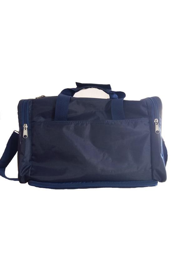 Спортивная сумкаСпортивные<br>Удобная и вместительная спортивная сумка.  Размер: 40*30*22 см.  Цвет: синий<br><br>По сезону: Всесезон<br>Размер : UNI<br>Материал: Полиэстер<br>Количество в наличии: 1