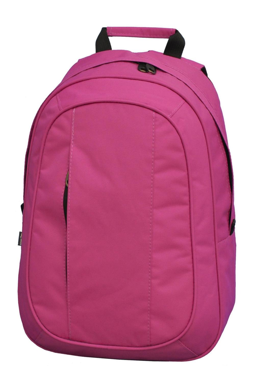 РюкзакСумки и кошельки<br>Молодежный рюкзак с застежкой на молнию. Модель имеет 2 плечевые и 1 короткую ручку.  В изделии использованы цвета: розовый  Габариты, см: 40х28х12<br><br>По сезону: Всесезон<br>Размер : UNI<br>Материал: Полиэстер<br>Количество в наличии: 2