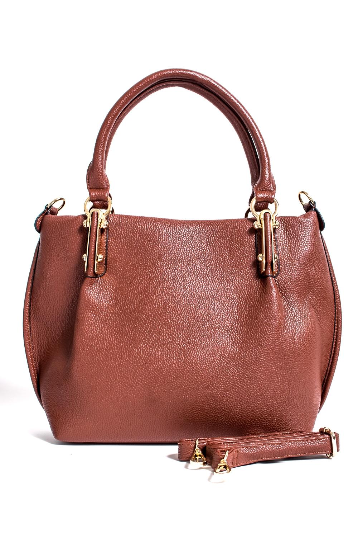 СумкаКлассические<br>Классическая женская сумка из искусственной кожи.  Цвет: коричневый  Размер: 41*10*27 см.<br><br>Отделения: 1 отделение<br>По материалу: Искусственная кожа<br>По размеру: Крупные<br>По рисунку: Однотонные<br>По способу ношения: В руках,На запастье,На плечо<br>По элементам: Карман на молнии,Карман под телефон<br>Ручки: Длинные,Короткие,Регулируемые<br>По форме: Полукруглые<br>Размер : UNI<br>Материал: Искусственная кожа<br>Количество в наличии: 4