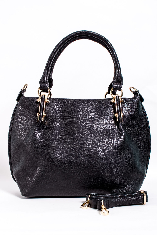СумкаКлассические<br>Классическая женская сумка из искусственной кожи.  Цвет: черный  Размер: 42*10*27 см.<br><br>Отделения: 1 отделение<br>По материалу: Искусственная кожа<br>По размеру: Крупные<br>По рисунку: Однотонные<br>По способу ношения: В руках,На запастье,На плечо<br>По элементам: Карман на молнии,Карман под телефон<br>Ручки: Длинные,Короткие,Регулируемые<br>По форме: Полукруглые<br>Размер : UNI<br>Материал: Искусственная кожа<br>Количество в наличии: 4