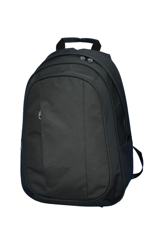 РюкзакСумки и кошельки<br>Молодежный рюкзак с застежкой на молнию. Модель имеет 2 плечевые и 1 короткую ручку.  В изделии использованы цвета: черный  Габариты, см: 40х28х12<br><br>По сезону: Всесезон<br>Размер : UNI<br>Материал: Полиэстер<br>Количество в наличии: 3