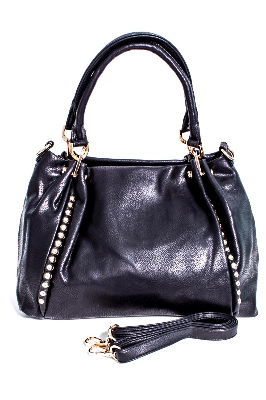 СумкаКлассические<br>Классическая женская сумка из искусственной кожи.  Цвет: черный  Размер: 15*29*25 см.<br><br>По материалу: Искусственная кожа<br>По размеру: Крупные<br>По рисунку: Однотонные<br>По способу ношения: В руках,На запастье,На плечо<br>По элементам: Карман на молнии,Карман под телефон<br>Ручки: Длинные,Короткие,Регулируемые<br>По форме: Прямоугольные<br>Размер : UNI<br>Материал: Искусственная кожа<br>Количество в наличии: 2