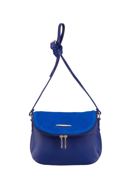 СумкаКлассические<br>Женская сумка – это незаменимый атрибут стиля и проявления индивидуальности каждой представительницы прекрасного пола. В нашем интернет - магазине Вы сможете подобрать нужную сумочку к любому образу и для любых событий.  Цвет: синий.  Длина - 25 ± 1 см Высота - 19 ± 1 см Ширина - 9 ± 1 см<br><br>По материалу: Замша,Искусственная кожа<br>По размеру: Маленькие,Средние<br>По рисунку: Однотонные<br>По способу ношения: В руках,На плечо,Через плечо<br>По степени жесткости: Мягкие<br>По типу застежки: На кнопках,С застежкой молнией<br>По элементам: Карман на молнии,Карман под телефон,С декором,С отделочной фурнитурой<br>Ручки: Длинные,Регулируемые<br>По форме: Полукруглые<br>Размер : UNI<br>Материал: Искусственная кожа + Натуральная замша<br>Количество в наличии: 1