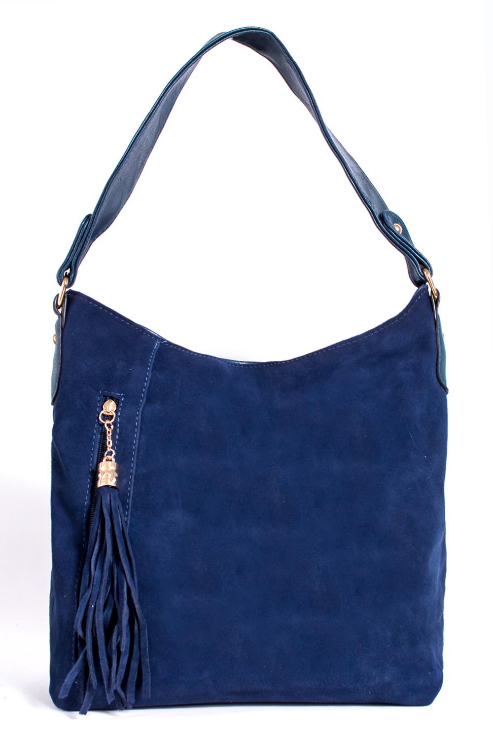 СумкаКлассические<br>Женская сумка из искусственной кожи и замши.  Цвет: синий  Размер: 37*30*12 см.<br><br>По материалу: Замша,Искусственная кожа<br>По размеру: Крупные<br>По рисунку: Однотонные<br>По силуэту стенок: Прямоугольные<br>По способу ношения: В руках,На запастье,На плечо<br>По элементам: Карман на молнии,Карман под телефон,С кисточками<br>Ручки: Короткие<br>Размер : UNI<br>Материал: Искусственная кожа + Искусственная замша<br>Количество в наличии: 5
