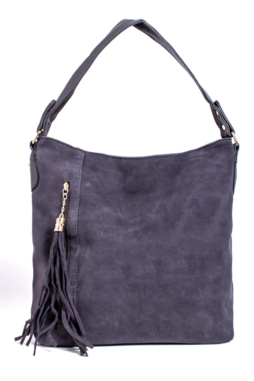 СумкаКлассические<br>Женская сумка из искусственной кожи и замши.  Цвет: серый  Размер: 37*30*12 см.<br><br>По материалу: Замша,Искусственная кожа<br>По размеру: Крупные<br>По рисунку: Однотонные<br>По способу ношения: В руках,На запастье,На плечо<br>По элементам: Карман на молнии,Карман под телефон,С кисточками<br>Ручки: Короткие<br>По форме: Прямоугольные<br>Размер : UNI<br>Материал: Искусственная кожа + Искусственная замша<br>Количество в наличии: 4
