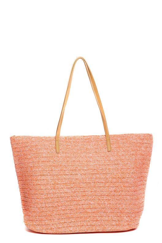 СумкаПляжные сумки<br>Обязательно приобретите в свой летний гардероб для отдыха пляжную сумку. Обычно пляжные сумки бывают достаточно больших размеров. Это и особенность данного вида аксессуаров, и практичная необходимость. Ведь с собой на пляж нужно взять много вещей от полотенца до крема от загара.  В изделии использованы цвета: коралловый  Размеры: 51*36*16 см<br><br>Отделения: без отделений<br>По образу: Жизнь,Пляж<br>По рисунку: Однотонные<br>По силуэту стенок: Трапециевидные<br>По способу ношения: На плечо<br>По степени жесткости: Мягкие<br>По стилю: Летние,Пляжные,Повседневные<br>Ручки: Короткие<br>По сезону: Лето<br>Размер : UNI<br>Материал: Полиэстер<br>Количество в наличии: 2