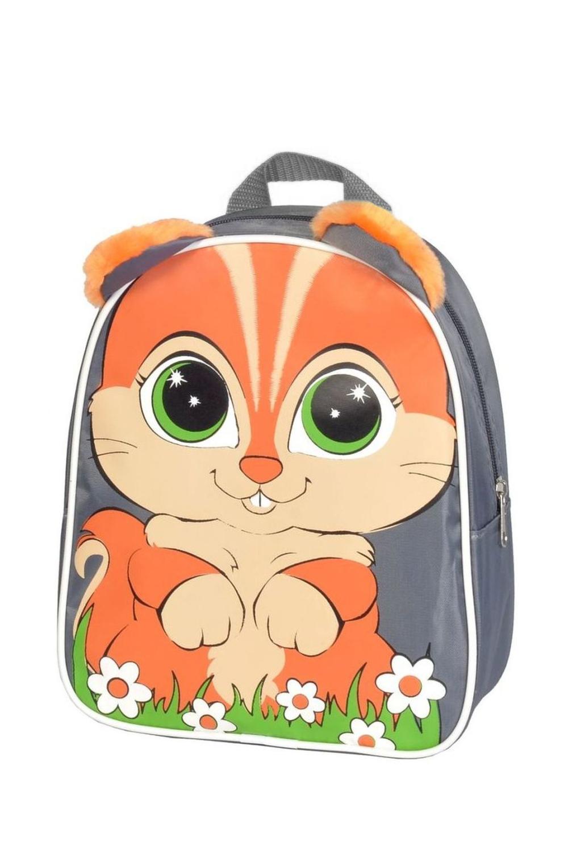 РюкзакСумки и кошельки<br>Забавный рюкзак с ярким принтом. Модель имеет 2 плечевые и 1 короткую ручку.  В изделии использованы цвета: серый, оранжевый и др.  Габариты, см: 25х21х7,5<br><br>Размер : UNI<br>Материал: Полиэстер<br>Количество в наличии: 2