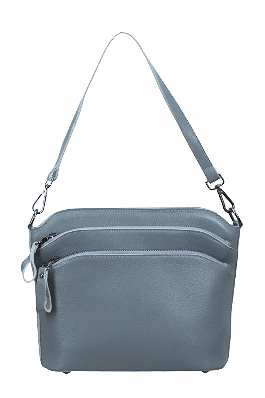 СумкаКлассические<br>Удобная и вместительная женская сумка. Отличный выбор для повседневного гардероба.  Размеры: 22*25*8 см.  В изделии использованы цвета: серый<br><br>По способу ношения: На плечо<br>По степени жесткости: Мягкие<br>Ручки: Длинные,Короткие,Регулируемые<br>Материал: Натуральная кожа<br>Размер: Маленькие<br>Рисунок: Однотонные<br>Форма: Прямоугольные<br>Застежка: С застежкой молнией<br>Размер : UNI<br>Материал: Натуральная кожа<br>Количество в наличии: 1