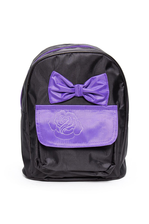 Рюкзак детскийСумки и кошельки<br>Яркий и удобный рюкзак для девочки  В изделии использованы цвета: черный, фиолетовый  Размер: 27*22*10 см<br><br>По сезону: Всесезон<br>Размер : UNI<br>Материал: Полиэстер<br>Количество в наличии: 3