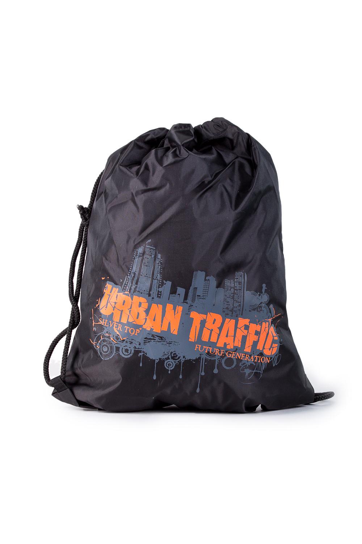 Торба для обувиСумки для мальчиков<br>Удобная и вместительная торба для обуви.  В изделии использованы цвета: черный, серый, оранжевый  Габариты: 42х34 см<br><br>По сезону: Всесезон<br>Размер : UNI<br>Материал: Полиэстер<br>Количество в наличии: 1