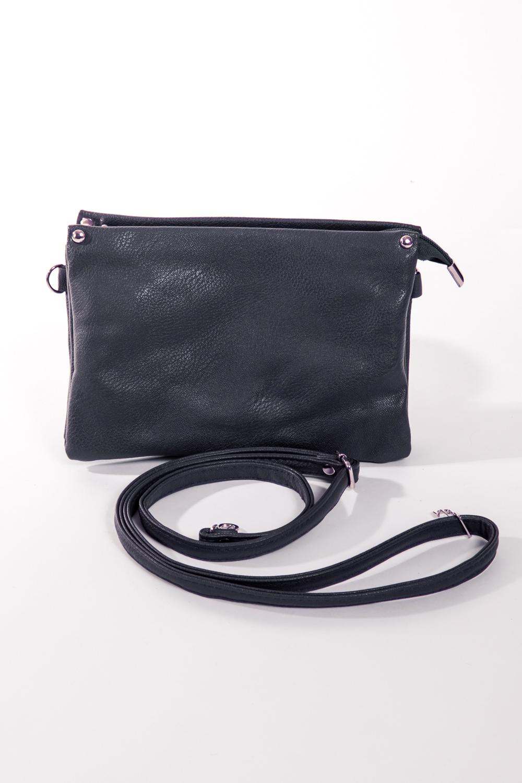 СумкаКлассические<br>Лёгкая небольшая сумочка на каждый день, с ремнём через плечо. Три открытых отделения закрываются на одну молнию. В одном из отделений расположен карман на молнии, в другом два небольших пришивных кармашка для телефона и прочих мелочей. С наружи сзади карман на молнии. Все застёжки молнии. Задний карман: 160х110 мм Внутренний карман 150х90 мм Длина ремня увеличивается до 1200 мм  Размеры: д/в/ш 235х160х120  Цвет: синий<br><br>Отделения: 3 отделения<br>По материалу: Искусственная кожа<br>По размеру: Маленькие<br>По рисунку: Однотонные<br>По способу ношения: В руках,На плечо,Через плечо<br>По степени жесткости: Мягкие,Полужесткие<br>По типу застежки: С застежкой молнией<br>Ручки: Длинные,Регулируемые<br>По сезону: Всесезон<br>По форме: Прямоугольные<br>Размер : UNI<br>Материал: Искусственная кожа<br>Количество в наличии: 1