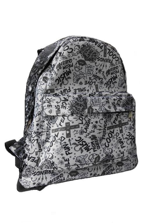 РюкзакРюкзаки<br>Модный рюкзак для активного отдыха или занятий спортом из качественных ярких материалов. Одно основное отделение на двухсторонней молнии. Снаружи передний карман на молнии, удобные лямки и ручка.  Размеры: 32*13*41 см  Цвет: серый, черный<br><br>По материалу: Тканевые<br>По рисунку: Однотонные,Цветные<br>По способу ношения: На плечо<br>По степени жесткости: Мягкие<br>По типу застежки: С застежкой молнией<br>Ручки: Плечевые<br>По сезону: Всесезон<br>По стилю: Повседневный стиль,Спортивный стиль<br>По форме: Прямоугольные<br>Размер : UNI<br>Материал: Полиэстер<br>Количество в наличии: 1