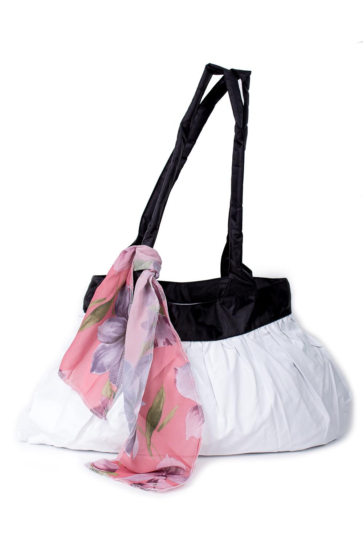 СумкаСумки-шоппинг<br>Удобная и вместительная женская сумка.  Размеры: 29*45 см.  Цвет: белый, черный<br><br>По материалу: Тканевые<br>По размеру: Средние<br>По рисунку: Однотонные<br>По силуэту стенок: Прямоугольные<br>По способу ношения: В руках,На плечо<br>По степени жесткости: Мягкие<br>Ручки: Длинные<br>По сезону: Всесезон<br>Размер : UNI<br>Материал: Полиэстер<br>Количество в наличии: 5