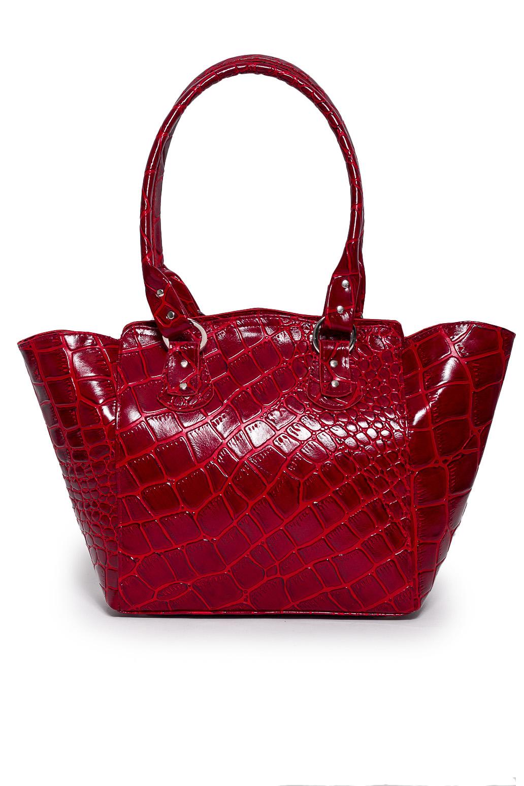 СумкаКлассические<br>Удобная и вместительная женская сумка. Сумка на молнии, одно большое отделение, 1 карман в сумке на молнии, 2 маленьких.  Состав: верх - натуральная кожа Крс 100 %, подклад - полиэстер  Размеры: 27*12*42 см  Цвет: красный<br><br>Отделения: 1 отделение<br>По материалу: Натуральная кожа<br>По размеру: Средние<br>По рисунку: Однотонные<br>По способу ношения: В руках,На запастье,На плечо<br>По типу застежки: С застежкой молнией<br>По элементам: Карман на молнии,Карман под телефон<br>Ручки: Короткие<br>По форме: Трапециевидные<br>Размер : UNI<br>Материал: Натуральная кожа<br>Количество в наличии: 1