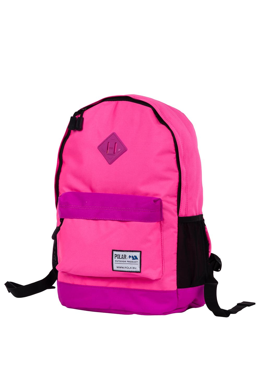 РюкзакРюкзаки<br>Модный рюкзак для активного отдыха или занятий спортом из качественных ярких материалов. Одно основное отделение на двухсторонней молнии. Снаружи передний карман на молнии, удобные лямки и ручка.  Размеры: 33*16*43 см  Цвет: розовый, черный<br><br>По материалу: Тканевые<br>По рисунку: Однотонные,Цветные<br>По способу ношения: На плечо<br>По степени жесткости: Мягкие<br>По типу застежки: С застежкой молнией<br>Ручки: Плечевые<br>По сезону: Всесезон<br>По стилю: Повседневный стиль,Спортивный стиль<br>По форме: Прямоугольные<br>Размер : UNI<br>Материал: Полиэстер<br>Количество в наличии: 1