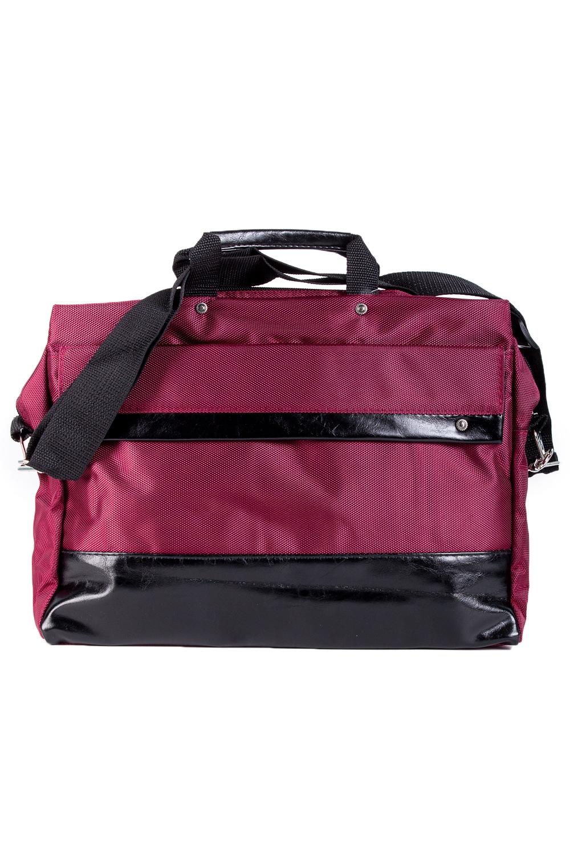 СумкаДеловые<br>Деловая мужская сумка. Модель с застежкой на молнию, двумя короткими и одной плечевой ручкой.  В изделии использованы цвета: вишневый, черный  Габариты, см: 27х36х8<br><br>Размер : UNI<br>Материал: Полиэстер<br>Количество в наличии: 1