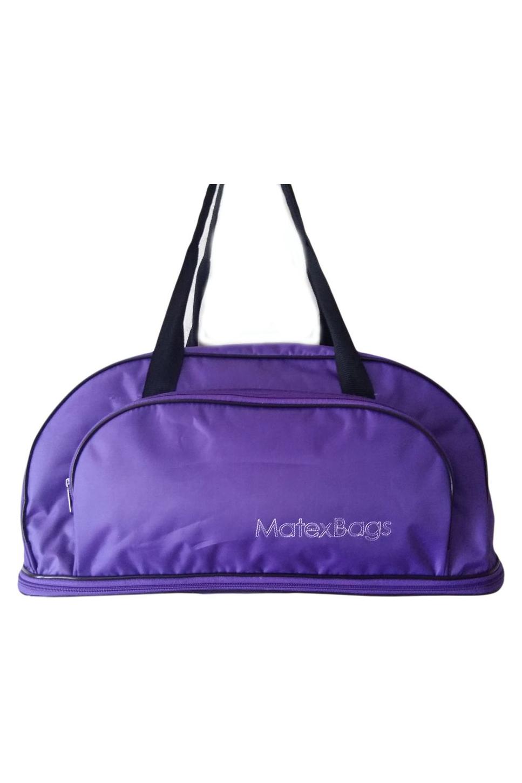 Дорожная сумкаДорожные<br>Удобная и вместительная дорожная сумка.  Размер: 44*18*21 см.  Цвет: фиолетовый<br><br>По материалу: Тканевые<br>По размеру: Средние<br>По рисунку: Однотонные<br>По степени жесткости: Мягкие<br>По типу застежки: С застежкой молнией<br>По форме: Трапециевидные<br>Ручки: Короткие<br>По сезону: Всесезон<br>Размер : UNI<br>Материал: Полиэстер<br>Количество в наличии: 2