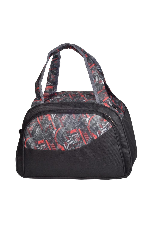 СумкаСпортивные<br>Удобная спортивная сумка с двумя ручками. Модель с застежкой на молнию.  В изделии использованы цвета: черный, серый. коралловый и др.  Габариты, см: 27х39х17<br><br>По материалу: Тканевые<br>По рисунку: С принтом,Цветные<br>По способу ношения: В руках<br>По степени жесткости: Мягкие<br>По типу застежки: С застежкой молнией<br>По форме: Трапециевидные<br>Ручки: Короткие<br>Размер : UNI<br>Материал: Полиэстер<br>Количество в наличии: 2