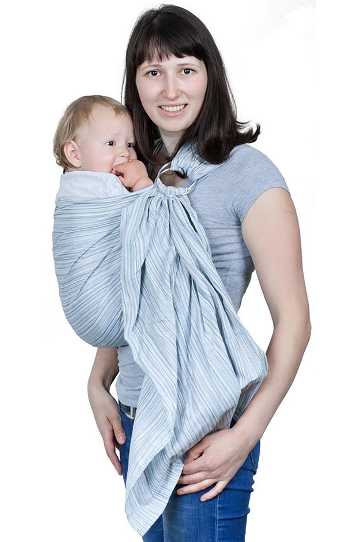 Слинг с кольцамиСлинги, кенгуру и эрго-рюкзаки<br>Пожалуй, самая доступная модель слинга с кольцами, без изысков, но абсолютно достаточная. Для тех, кто не любит переплачивать или носить по чуть-чуть или хочет «просто попробовать»  Преимущества: - полностью натуральная ткань - идеально подходит для начинающих слингомам - мягкое и красиво драпирующееся плечо - красивый хвост, которым можно укрыть ребенка  Единоразмерный длина - 190 см, ширина -65 см  В изделии использованы цвета: голубой, синий и др.<br><br>Размер : UNI<br>Материал: Хлопок<br>Количество в наличии: 1