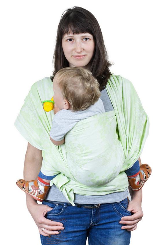 Слинг-шарфСлинги, кенгуру и эрго-рюкзаки<br>Недорогой и очень красивый слинг с замечательным соотношением «цена-качество», который можно смело рекомендовать для ношения новорожденных и в качестве первого слинга.  Преимущества: - специальное диагональное плетение - натуральные материалы - хорошая quot;дышимостьquot; и температурный комфорт  Единоразмерный длина - 480 см, ширина - 65 см  Цвет: салатовый<br><br>Размер : UNI<br>Материал: Хлопок<br>Количество в наличии: 1