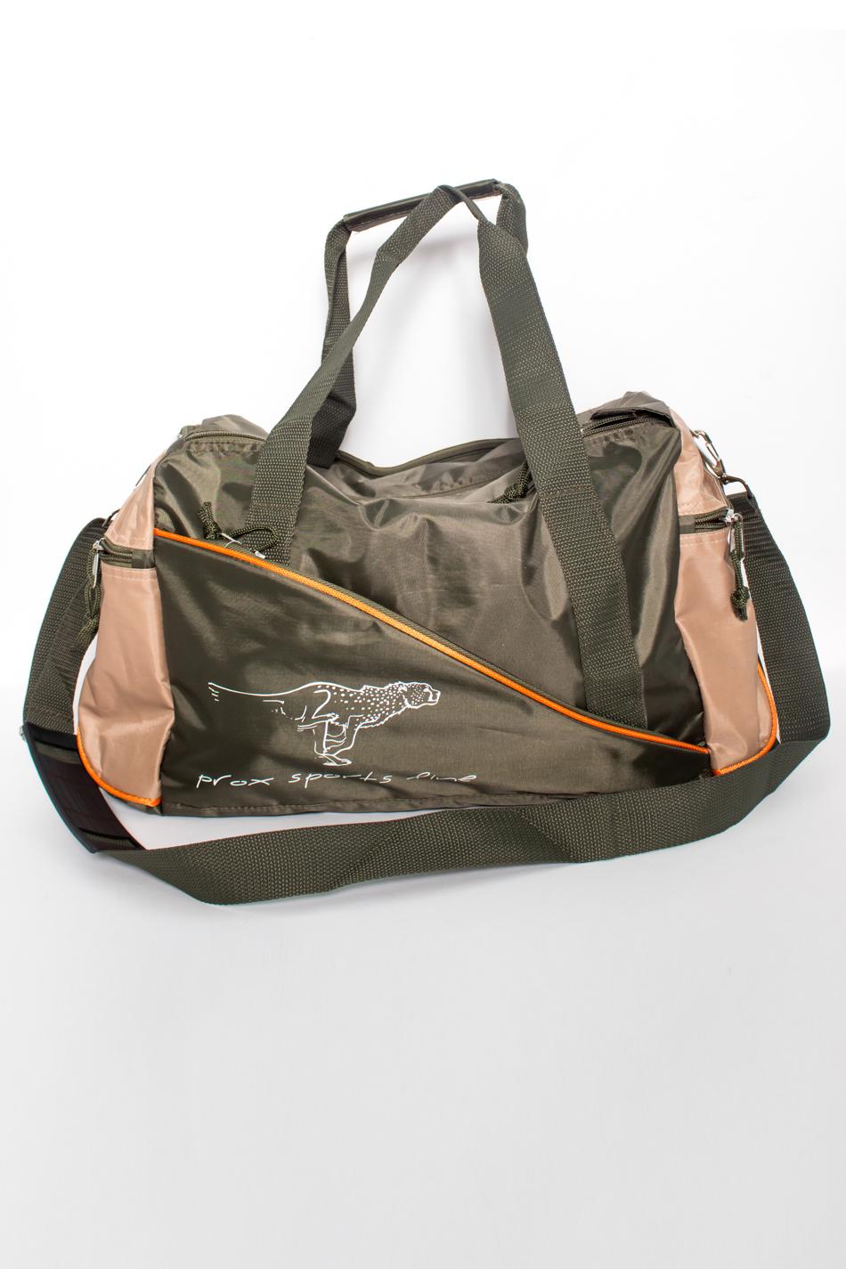 СумкаДорожные<br>Универсальная дорожная сумка приятной расцветки.  В изделии использованы цвета: зеленый, бежевый.  Размеры: 38*27*25 см<br><br>Размер : UNI<br>Материал: Полиэстер<br>Количество в наличии: 1