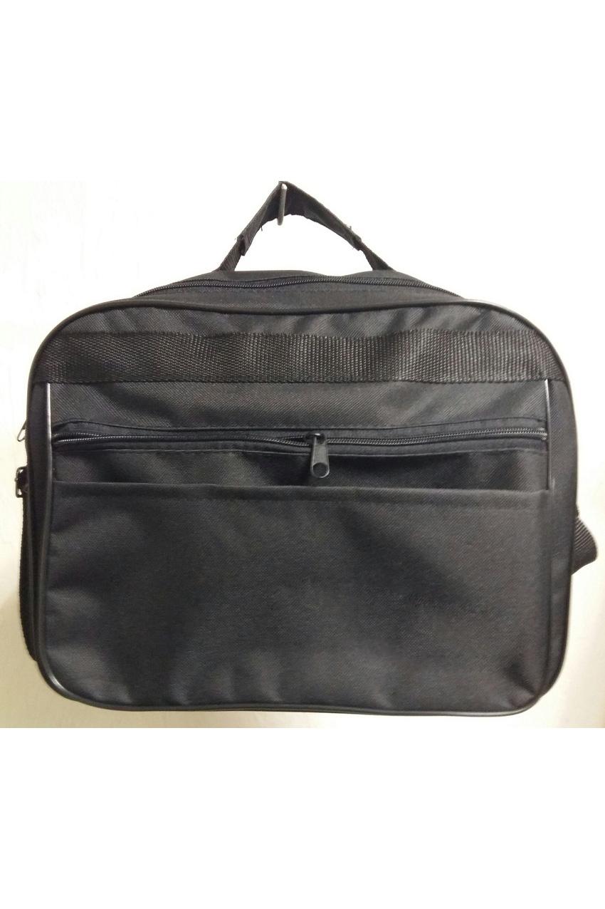 Деловая сумкаДеловые<br>Удобная и вместительная мужская сумка.  Размеры: 33*24*14 см  Цвет: черный<br><br>Размер : UNI<br>Материал: Полиэстер<br>Количество в наличии: 2