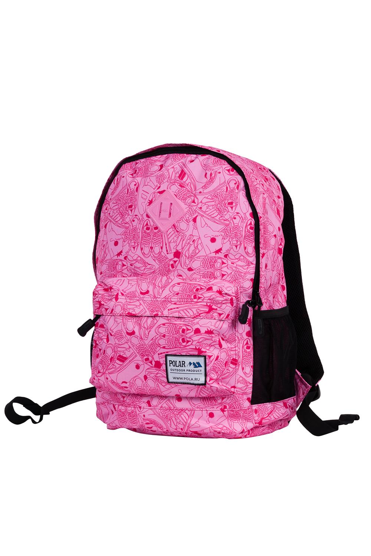 РюкзакРюкзаки<br>Модный рюкзак для активного отдыха или занятий спортом из качественных ярких материалов. Одно основное отделение на двухсторонней молнии. Снаружи передний карман на молнии, удобные лямки и ручка.  Размеры: 33*16*43 см  Цвет: розовый, черный<br><br>По материалу: Тканевые<br>По рисунку: Цветные,С принтом<br>По способу ношения: На плечо<br>По степени жесткости: Мягкие<br>По типу застежки: С застежкой молнией<br>Ручки: Плечевые<br>По сезону: Всесезон<br>По стилю: Повседневный стиль,Спортивный стиль,Молодежный стиль<br>По форме: Прямоугольные<br>Размер : UNI<br>Материал: Полиэстер<br>Количество в наличии: 1