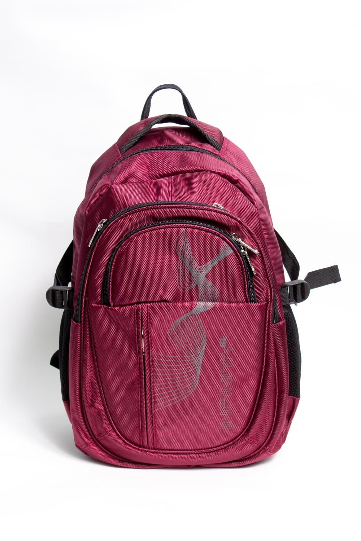 РюкзакРюкзаки<br>Модный рюкзак для активного отдыха или занятий спортом из качественных ярких материалов. Снаружи передние карманы на молнии, удобные лямки и ручка.  Размеры: 29*45*17 см  Цвет: бордовый, черный<br><br>Размер : UNI<br>Материал: Полиэстер<br>Количество в наличии: 3