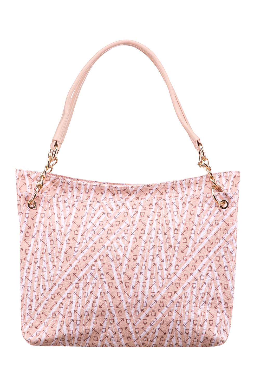 СумкаСумки-шоппинг<br>Красивая, удобная и вместительная сумка станет отличной помощницей.  Цвет: белый, розовый  Размер:  длина 34 см высота 28 см ширина 12 см<br><br>По материалу: Искусственная кожа<br>По рисунку: Цветные,С принтом<br>По силуэту стенок: Прямоугольные<br>По способу ношения: В руках,На плечо<br>По степени жесткости: Мягкие<br>По типу застежки: С застежкой молнией<br>Ручки: Длинные<br>Размер : UNI<br>Материал: Искусственная кожа<br>Количество в наличии: 1