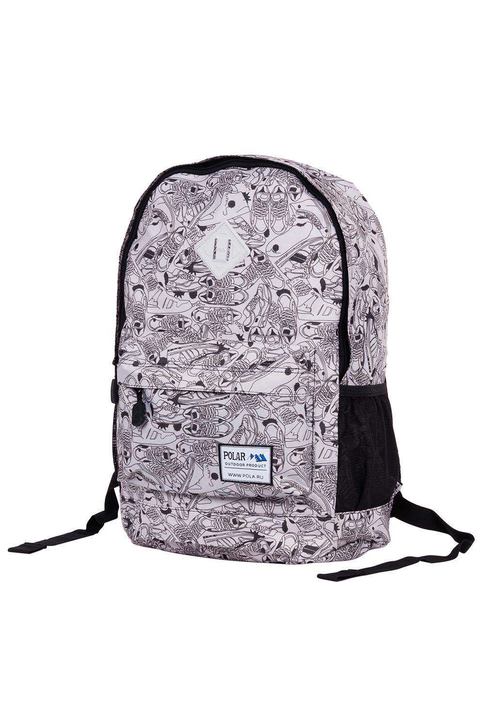 РюкзакРюкзаки<br>Модный рюкзак для активного отдыха или занятий спортом из качественных ярких материалов. Одно основное отделение на двухсторонней молнии. Снаружи передний карман на молнии, удобные лямки и ручка.  Размеры: 33*16*43 см  Цвет: серый, черный<br><br>По материалу: Тканевые<br>По рисунку: Цветные,С принтом<br>По силуэту стенок: Прямоугольные<br>По способу ношения: На плечо<br>По степени жесткости: Мягкие<br>По типу застежки: С застежкой молнией<br>Ручки: Плечевые<br>По сезону: Всесезон<br>По стилю: Молодежный стиль,Повседневный стиль,Спортивный стиль<br>Размер : UNI<br>Материал: Полиэстер<br>Количество в наличии: 1