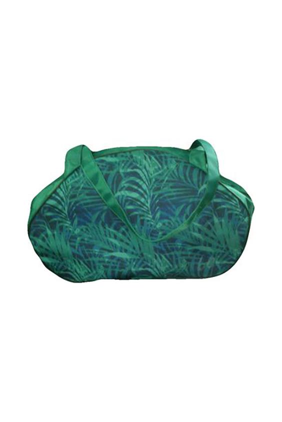 Дорожная сумкаДорожные<br>Удобная и вместительная дорожная сумка.  Размер: 44*18*21 см.  В изделии использованы цвета: зеленый, синий<br><br>По материалу: Тканевые<br>По размеру: Средние<br>По рисунку: Растительные мотивы,С принтом,Цветные<br>По способу ношения: В руках<br>По степени жесткости: Мягкие<br>По типу застежки: С застежкой молнией<br>По форме: Трапециевидные<br>Ручки: Короткие<br>По сезону: Всесезон<br>Размер : UNI<br>Материал: Полиэстер<br>Количество в наличии: 1